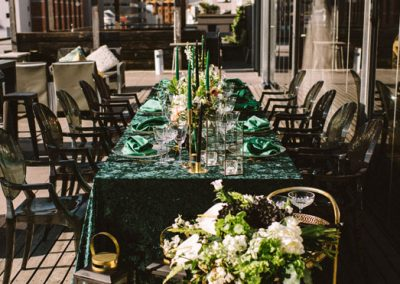 Emerald Green Styled Shoot – Cartel Roof Top